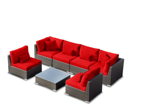 NEW! Las Vegas Set Outdoor Patio 7pcs with Sectional Wicker Sofa Furniture Or in Home & Garden, Yard, Garden & Outdoor Living, Patio & Garden Furniture | eBay