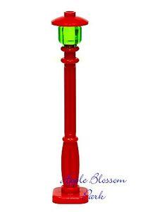 New Lego Christmas Village Red Street Light City Minifig