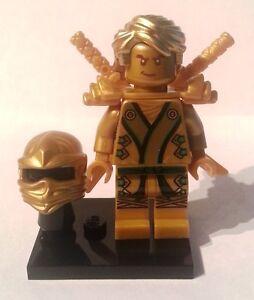 New lego ninjago 2013 lloyd kx the 034 golden ninja 034 w gold teenage style hair ebay - Ninjago lloyd gold ...