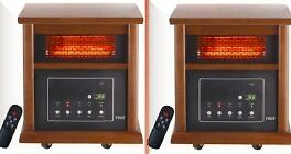 NEW Lifesmart S-ZHPW-2400 1200 Sq Ft 2 Pack Wood Cabinet Infrared Heaters in Home & Garden, Home Improvement, Heating, Cooling & Air | eBay