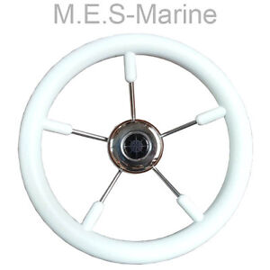 Boat steering wheel white