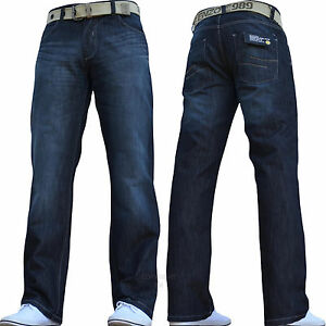new mens enzo designer sale jeans pants free belt waist size 32 34 36 38 40 42 ebay. Black Bedroom Furniture Sets. Home Design Ideas
