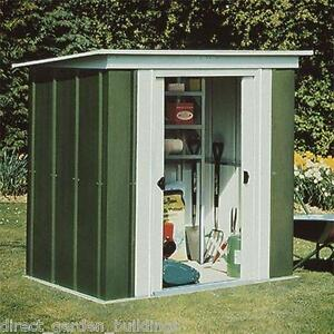 Pent roof metal shed