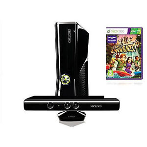 NEW MICROSOFT XBOX 360 SLIM (Latest Model)- KINECT HOLIDAY BUNDLE 4GB BLACK in Video Games & Consoles, Video Game Consoles | eBay