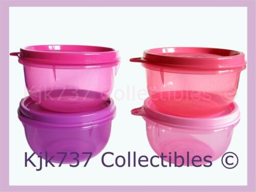 NEW MINI SET 4 RARE TUPPERWARE IDEAL LITTLE BOWLS 1 CUP CONTAINERS PINK & PURPLE in Collectibles, Kitchen & Home, Kitchenware | eBay