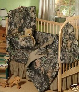 NEW Mossy Oak Break-Up Camo Baby Crib 5 Pce Bedding Set in Baby, Nursery Bedding, Crib Bedding | eBay