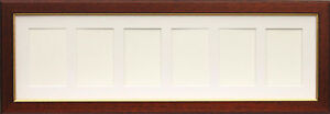 New multi aperture mahogany photo frame for 6 7 x 5 photo print - Six pictures photo frame ...