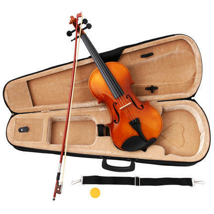 NEW NATURAL VIOLIN/FIDDLE ~FULL SIZE 4/4~W/ CASE & BOW