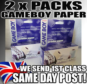 NEW-NINTENDO-GAMEBOY-PRINTER-PAPER-x-6-ROLLS-2-PACKS