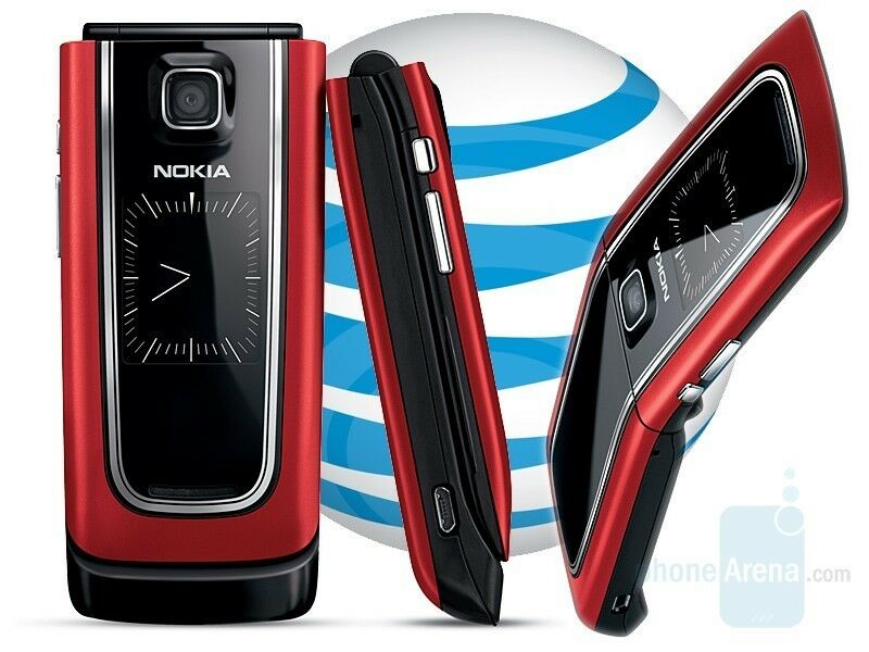 NEW NOKIA 6555 RED 3G FLIP UNLOCKED CELL PHONE