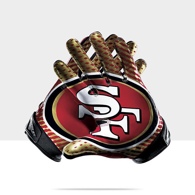 Vapor Jet 2 0 NFL San Francisco SF 49ers Niners Football Gloves Sz L