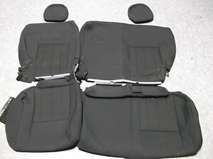new seat covers jeep liberty sport 2010 2012 back seat black cloth ebay. Black Bedroom Furniture Sets. Home Design Ideas