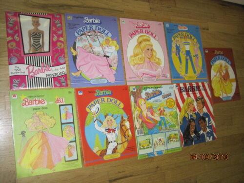 NEW OLD STOCK 9 SETS VINTAGE BARBIE PAPER DOLLS 1975-78-80-82-83-85 & 94 WHITMAN in Dolls & Bears, Paper Dolls, Vintage | eBay