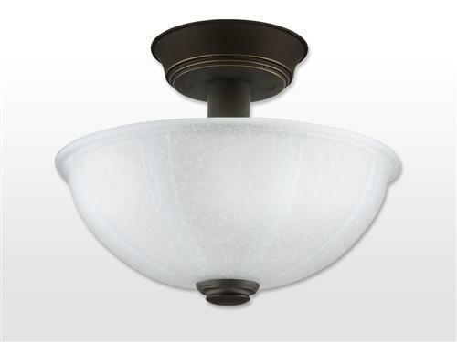 Shop Good Earth Lighting Metropolitan 3 Light Bronze: NEW Oil Rubbed Bronze Hallway Bathroom Semi Flush Glass