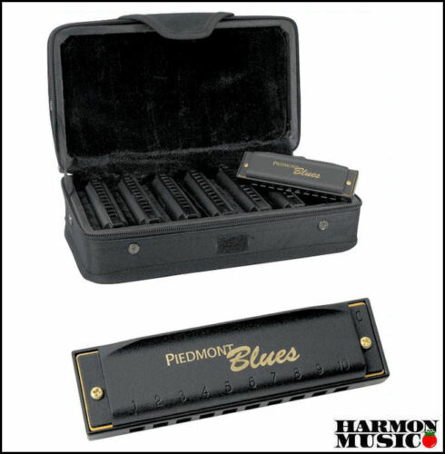 NEW PBH7 Hohner Piedmont Blues 7 Harmonica Set & Case FREE How To Play BOOK Harp in Musical Instruments & Gear, Harmonica, Contemporary | eBay