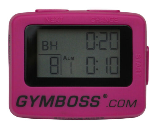 New pink gymboss interval timer and stopwatch shipped