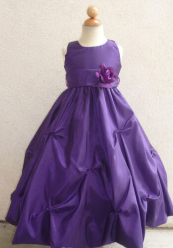NEW PURPLE FLOWER GIRL TODDLER PAGEANT DRESSES 2 - 14 in Clothing, Shoes & Accessories, Kids' Clothing, Shoes & Accs, Girls' Clothing (Sizes 4 & Up) | eBay