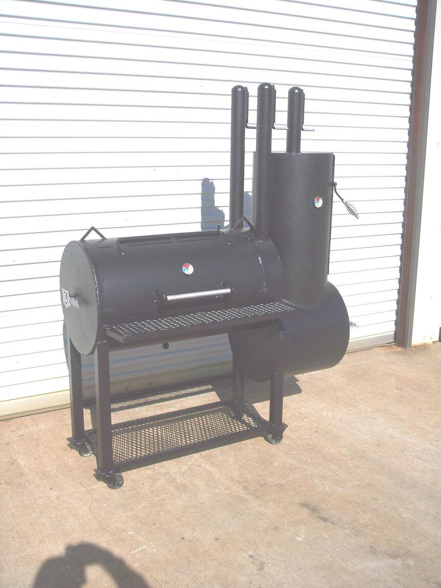 Custom Backyard Smokers : New Patio Custom BBQ Pit Smoker Charcoal Grill