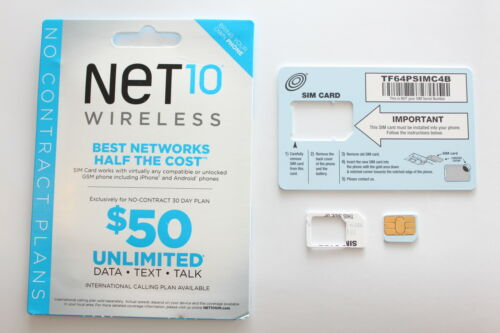 NEW Prepaid Net 10 MICRO SIM Card for iPhone 4 / 4s. Work with AT&T phones. in Cell Phones & Accessories, Phone Cards & SIM Cards, SIM Cards | eBay