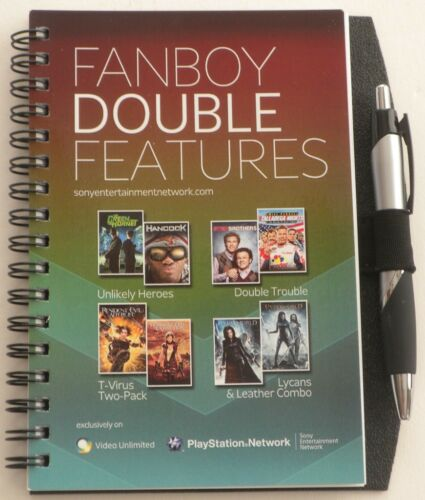 NEW Promotional FanBoy Double Features Spiral Notebook + Pen SONY PLAY STATION in Books, Accessories, Blank Diaries & Journals | eBay