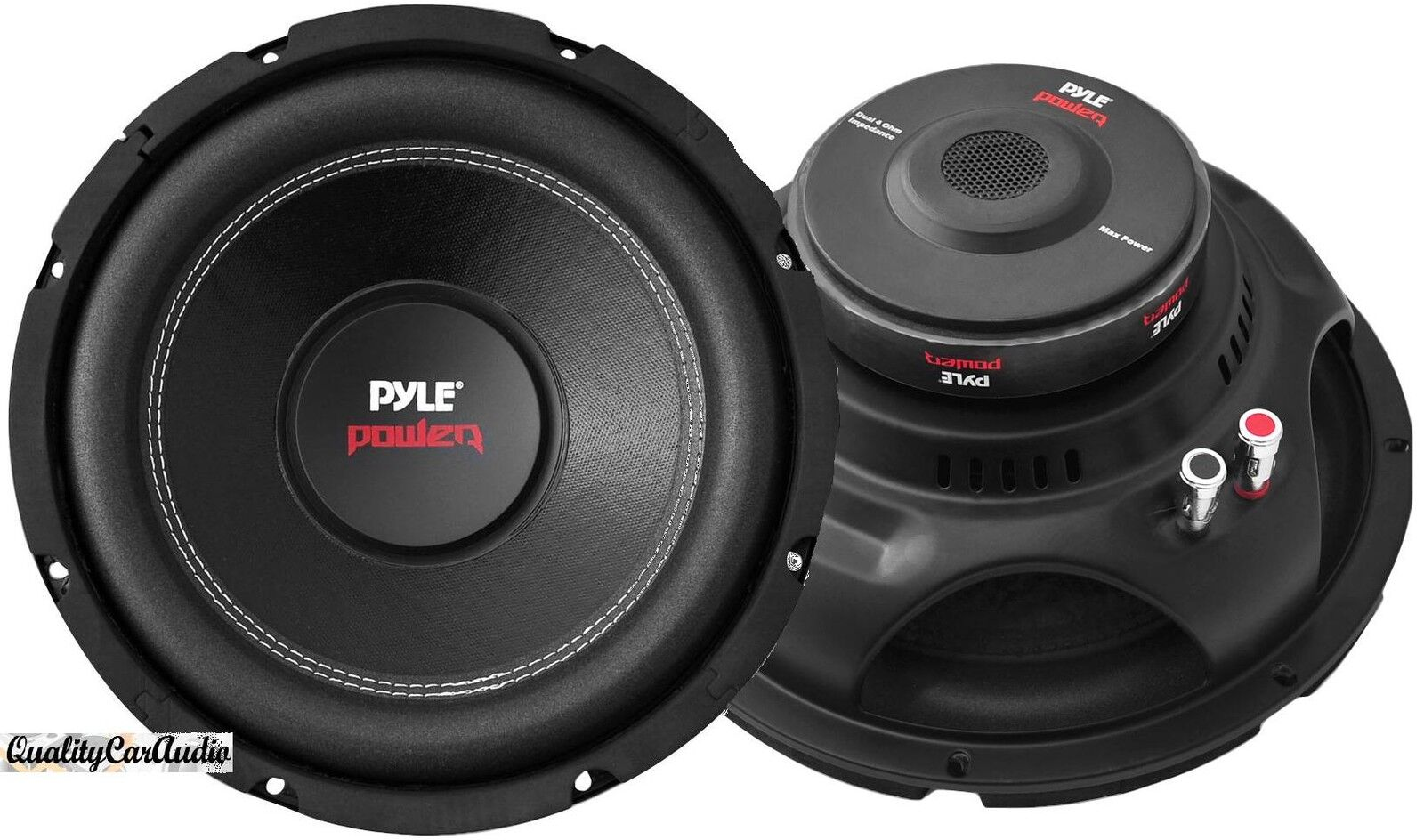 2  New Pyle Plpw15d 15 U0026quot  4000 Watt Dual Voice Coil 4 Ohm