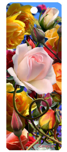 NEW ROSES 3D MOTION BOOKMARK in Books, Accessories, Bookmarks | eBay