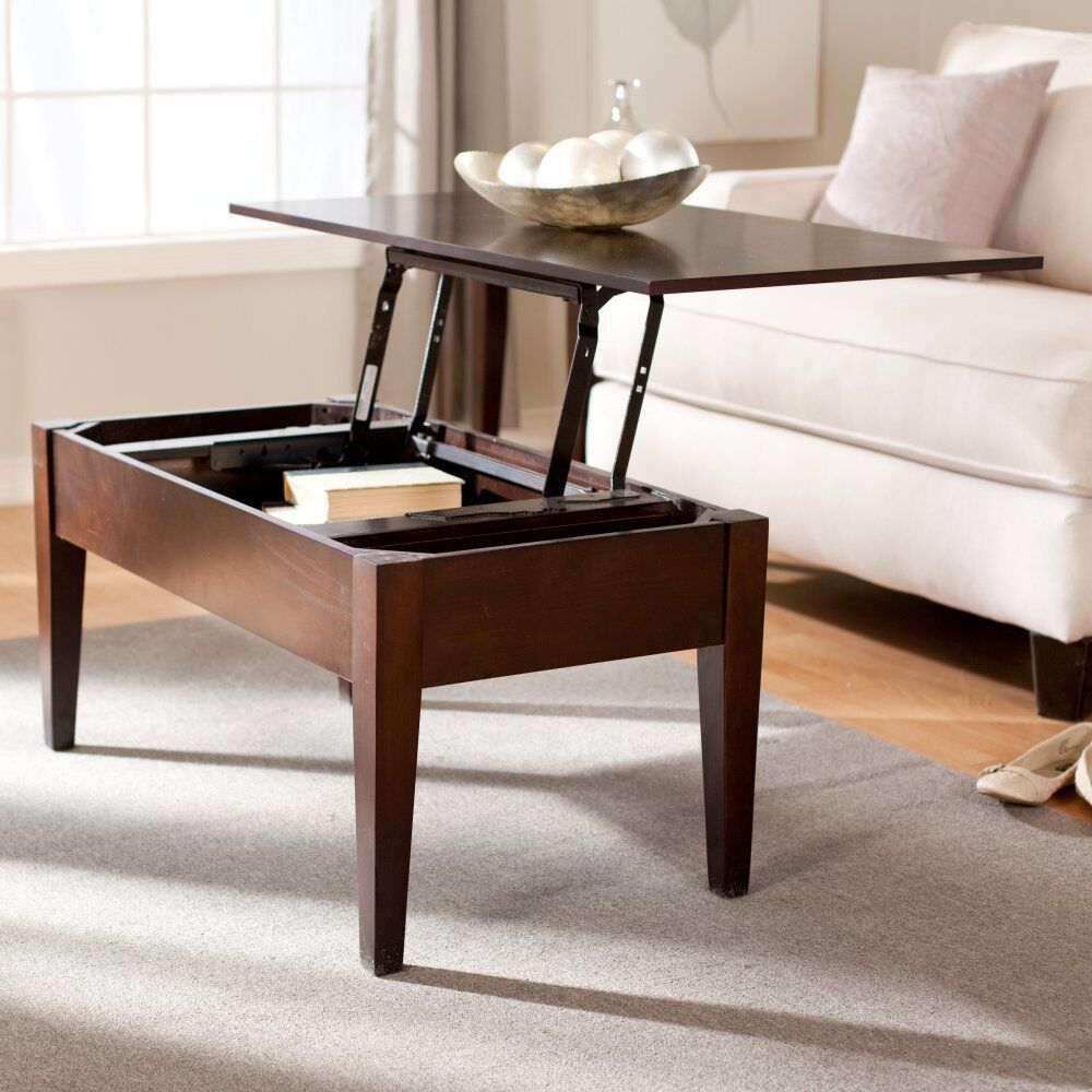 New Sale Turner Lift Top Coffee Table In Espresso Finish