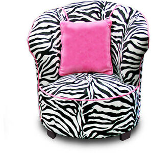 New sealed black pink zebra chair air room dorm kids teen bean bag ebay