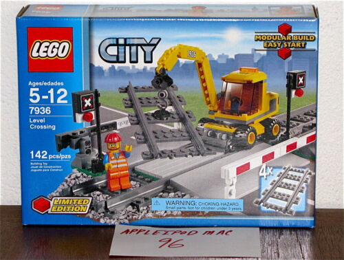 NEW SEALED LEGO 7936 CITY TRAIN RAILROAD LEVEL CROSSING 4 STRAIGHT TRACKS RARE in Consumer Electronics, Gadgets & Other Electronics, Other | eBay