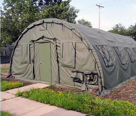 NEW SELF STANDING 20' x 32.5' STRUCTURE TENT MILITARY MADE BY ALASKA SHELTER