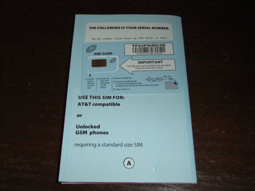 NEW STRAIGHT TALK REGULAR SIM CARD FOR AT&T OR UNLOCKED PHONE in Cell Phones & Accessories, Phone Cards & SIM Cards, SIM Cards | eBay