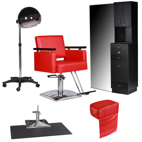 New Salon Equipment Styling Station Chair Mat Hair Dryer Booster Package EB 48A