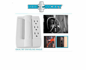 new set of 2 side socket six plug electrical outlets