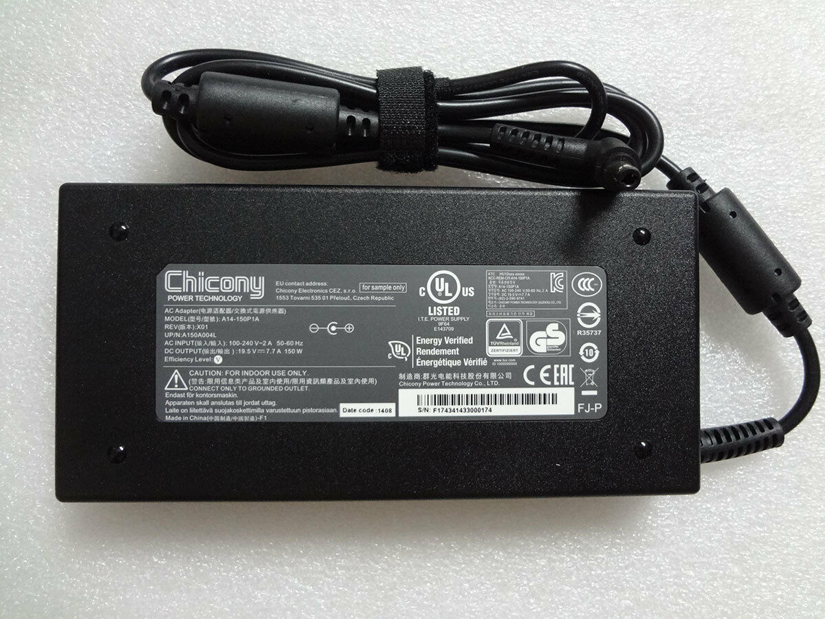 Original Oem Chicony 150w 195v 77a For Msi Gp62 Leopard Pro Ms 7rdx Chicong Delta Slim 5525mm All Series
