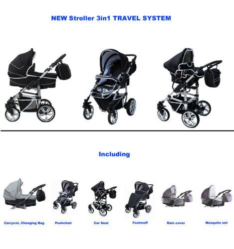 NEW! Stroller 3in1 TRAVEL SYSTEM in 16 Desings in Baby, Strollers | eBay