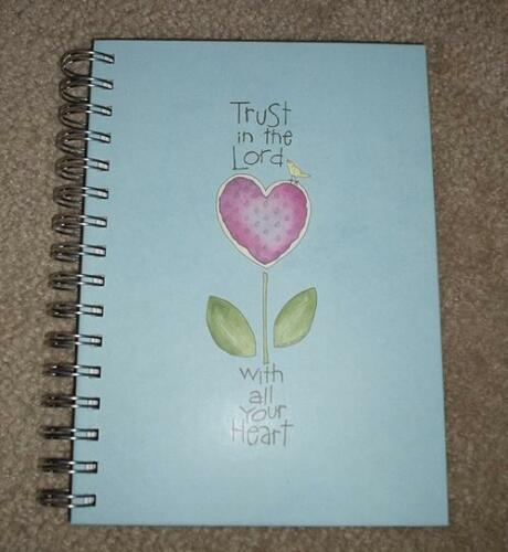 NEW TRUST IN THE LORD JOURNAL DIARY NOTEBOOK WITH ALL YOUR HEART BLUE SPIRAL in Books, Accessories, Blank Diaries & Journals | eBay