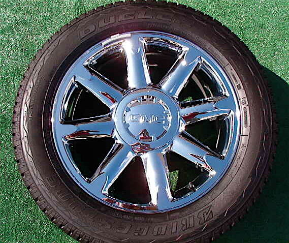 New Takeoff Genuine GM Factory GMC Yukon Denali Chrome 20 inch Wheels Tires