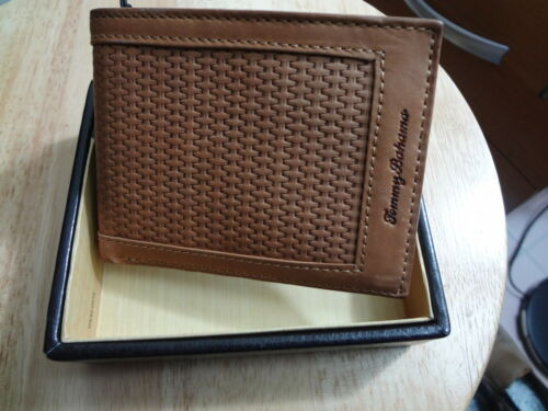 NEW♥ Tommy Bahama Men's WALLET BIFOLD LEATHER ID SLIM in Gift Box Tan Brown in Clothing, Shoes & Accessories, Men's Accessories, Wallets | eBay