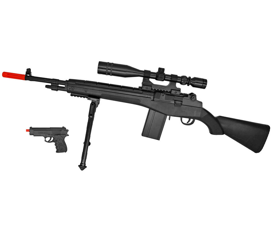 NEW UKARMS P14 M14 SPRING AIRSOFT GUN SNIPER RIFLE w/ 6mm ... M14 Sniper Rifle Airsoft