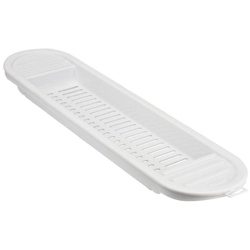 Plastic Bathroom Shelves White   NEW WHITE PLASTIC OVER BATH SHELF RACK  CADDY TIDY STORAGE STAND. 57 JPG