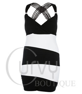 White Bodycon Dress on Size Black Dress On Black White Monochrome Striped Bodycon Dress Plus
