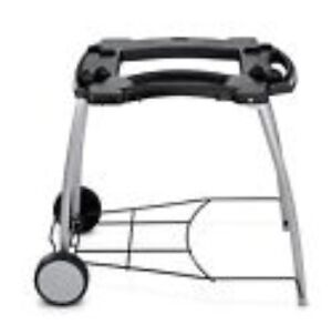 new weber 6549 weber q rolling cart with grill stand for q100 q200 series ebay. Black Bedroom Furniture Sets. Home Design Ideas
