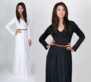 Long Sleeve Maxi Dress on New Womens Vneck Long Sleeve Cocktail Evening Party Plus Maxi Dress Xs