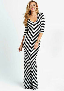 Black  White Striped Maxi Dress on Plus Size Maxi Dress Black White Striped Stripe Sexy Summer   Ebay