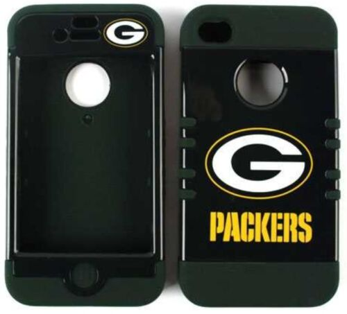 NFL Hybrid Impact Silicone Hard Cover Case + Apple iPhone 4 4S Green Bay PACKERS in Cell Phones & Accessories, Cell Phone Accessories, Cases, Covers & Skins | eBay