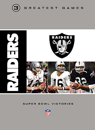 NFL Oakland Raiders 3 Greatest Games   Super Bowl Victories DVD, 2009