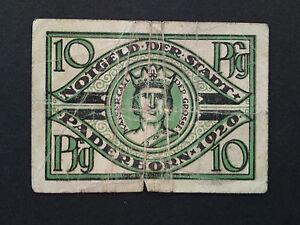NG03 - Notgeld Paderborn 10 Pf von 1920 - Deutschland - NG03 - Notgeld Paderborn 10 Pf von 1920 - Deutschland