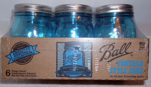 NICE! BALL HERITAGE COLLECTION BALL BLUE PERFECT MASON PINT LIMITED ED. JAR in Collectibles, Bottles & Insulators, Bottles | eBay