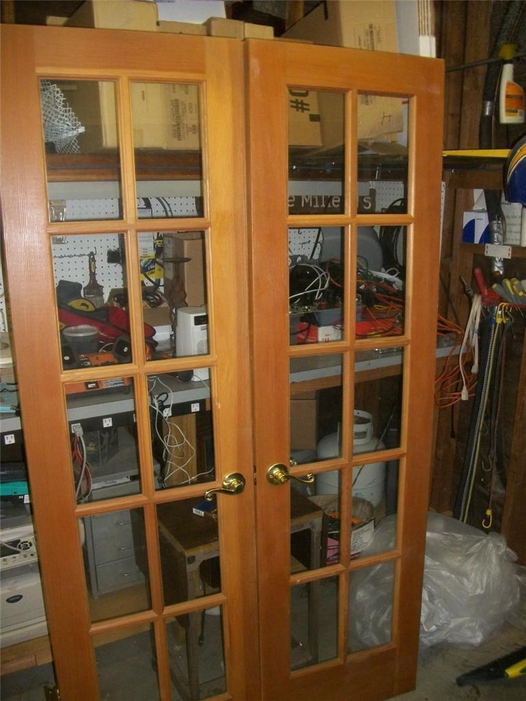 Nice Wood French Doors Interior Hardware Included Make Offer