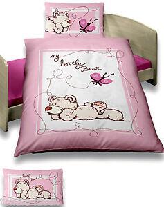 nici baby bettw sche 100x135 cm b r schmetterling rosa pf. Black Bedroom Furniture Sets. Home Design Ideas